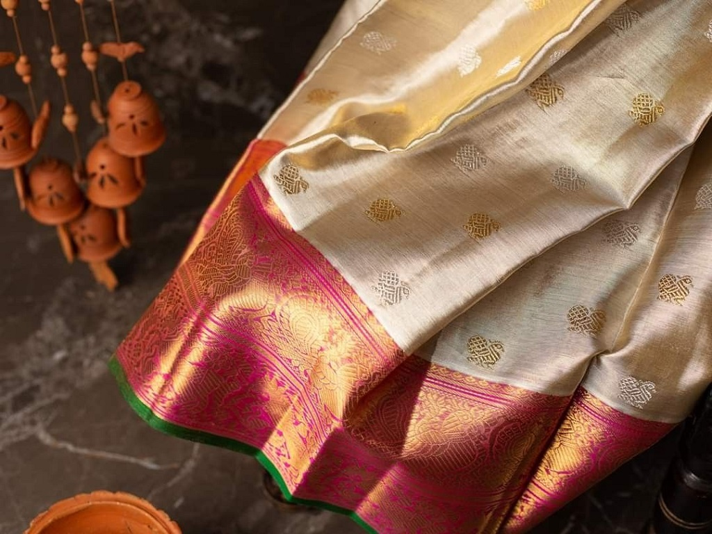 Techplaastic industrie P Ltd  located in Kancheepuram that is famous for silk sarees (half white colour )
