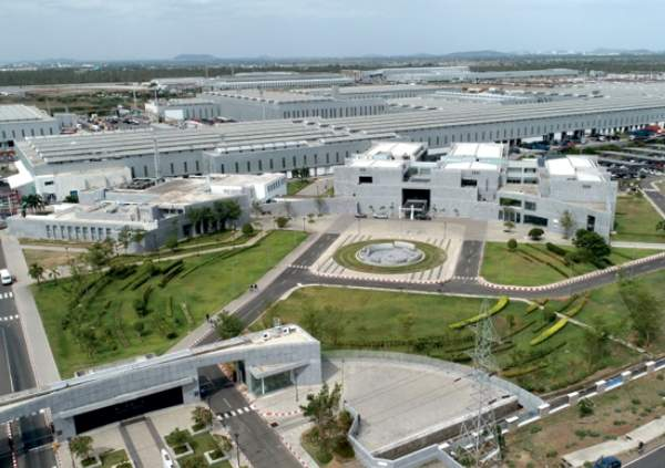 View of Chennai Sipcot  where Techplaastic Industrie P Ltd -Injection moulding company in India is located