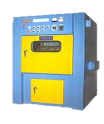 Light blue & yellow colour auto de flasher manufactured by tech plastic Industrie P Ltd-the best thermoset molding manufacturing company in India displayed under white back ground