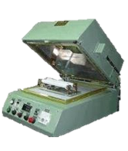 Light green colour High Frequency preheater opened view manufactured Techplaastic Industrie P Ltd -the top thermoset molding companies in India