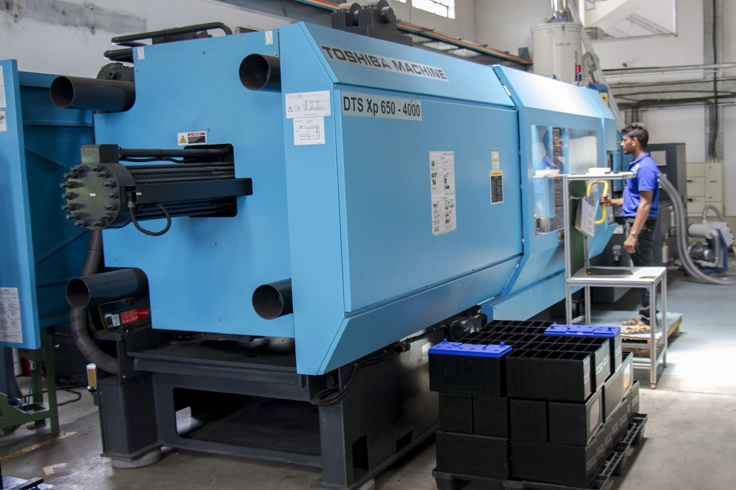 Injection moulding machine at the plastic moulding manufacturing unit of TPI